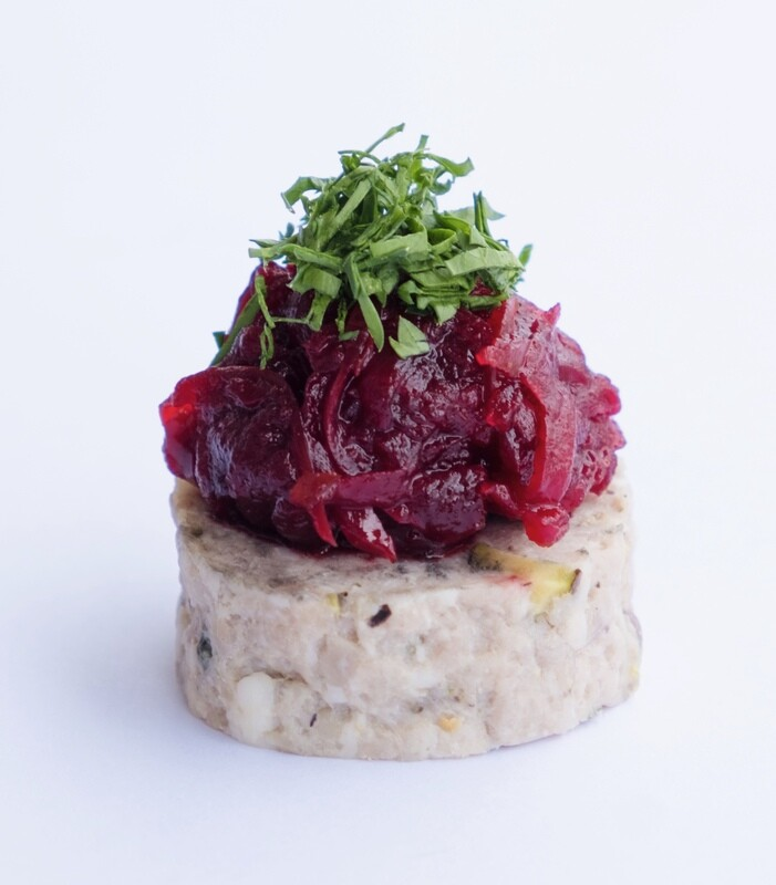 Pork and pistachio terrine with beetroot relish (20) - GF