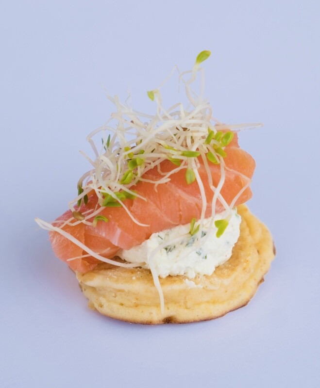 Smoked trout blini (20)