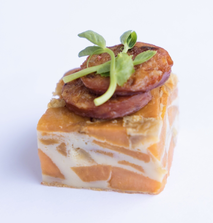 Spanish sweet potato and chorizo tortilla (20) - GF