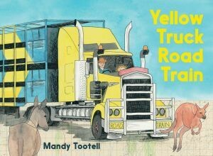 Yellow Truck Road Train by Mandy Tootell