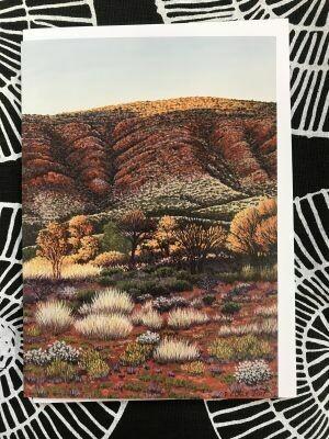 'Sunrise near Glen Helen' Greeting Card by Pauline Clack