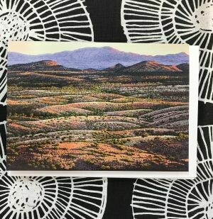 'Looking North from Chewings Range' Greeting Card by Pauline Clack