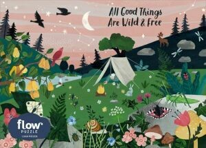 All Good Things Are Wild and Free 1,000-Piece Puzzle by Irene Smit, Astrid van der Hulst and Editors of FLOW Magazine (out of stock)