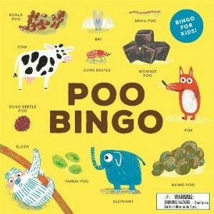 Poo Bingo by Laurence King (currently unavailable, will be in stock after 8 January 2021)