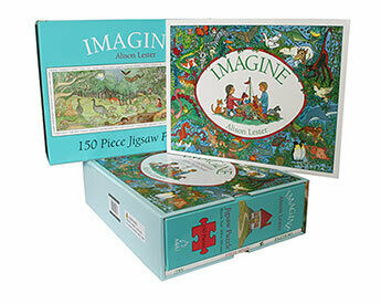 Imagine - Book and Jigsaw Puzzle by Alison Lester