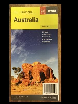 Australia Handy Map 11th Edition HEMA