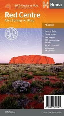 Red Centre: Alice Springs to Uluru 4WD Explorer Map 7th Edition HEMA
