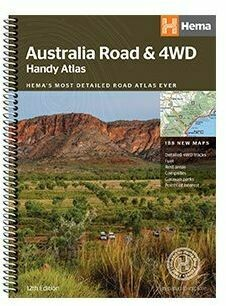 Australia Road & 4WD Handy Atlas  HEMA's most detailed road Atlas Ever