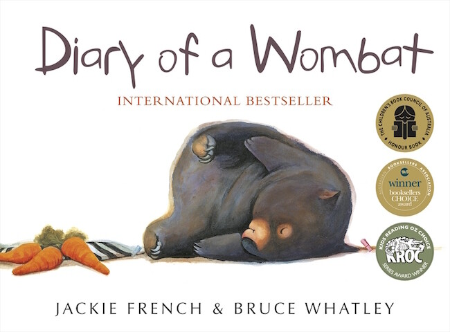 Diary of a Wombat by Jackie French, illustrated by Bruce Whatley