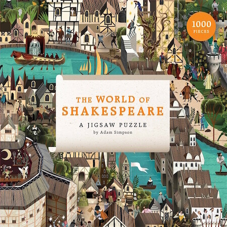 The World of Shakespeare: 1000 Piece Jigsaw Puzzle by Adam Simpson