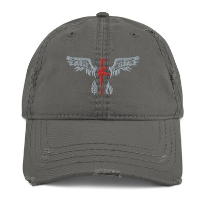 Distressed Hat Grey