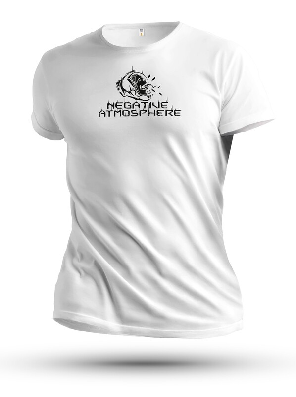 Unisex White Negative Atmoshpere T-shirt from