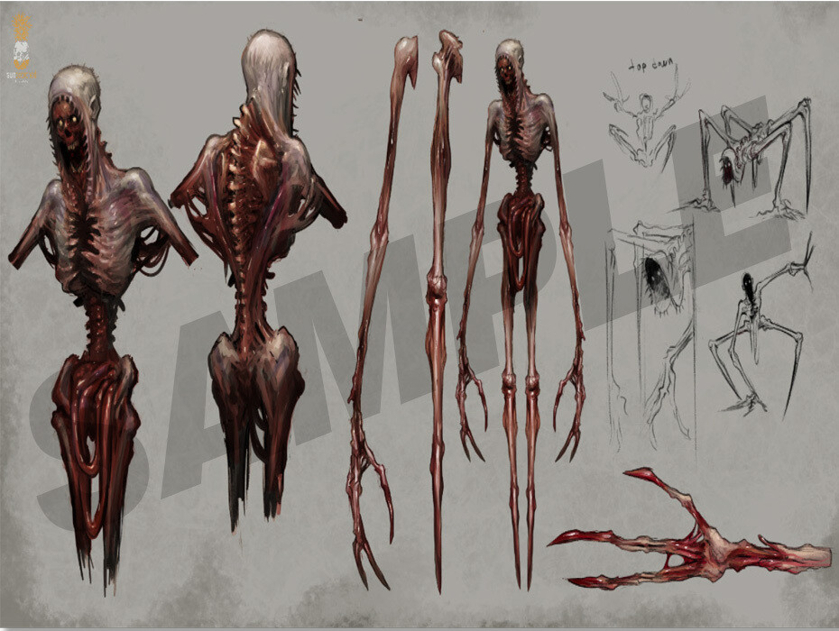 Stilt Walker Concept Sheet A4 | A3 Digital Print from
