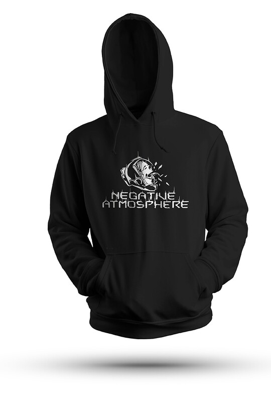 Unisex Black Negative Atmosphere Hoodie from