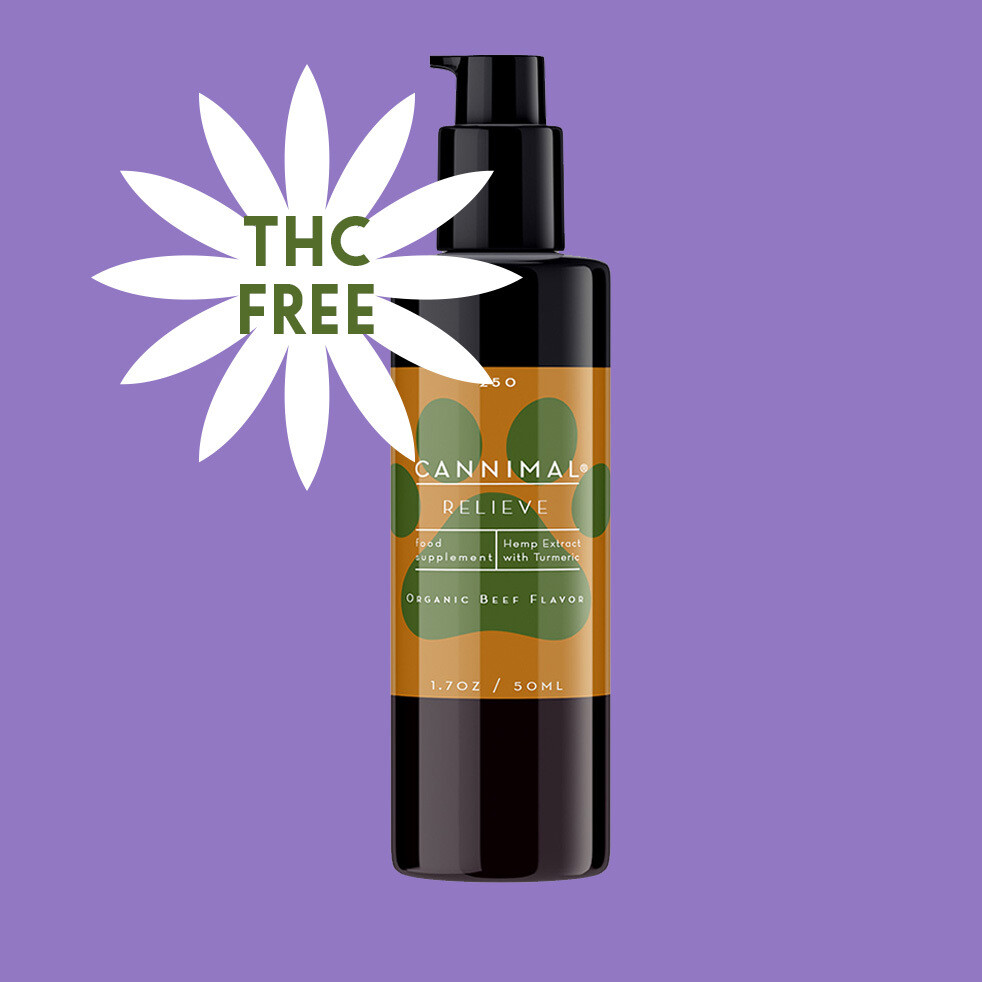THC-FREE Cannimal Relieve Formula CBD + Turmeric