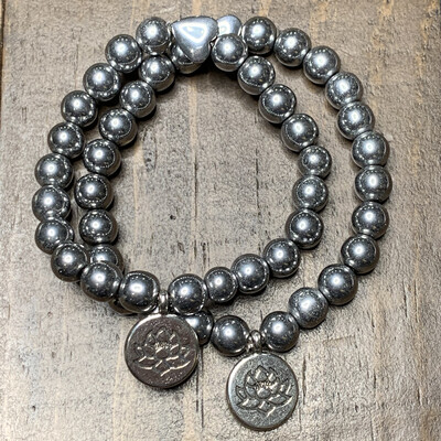 Hematite Protection Bracelet-Lotus