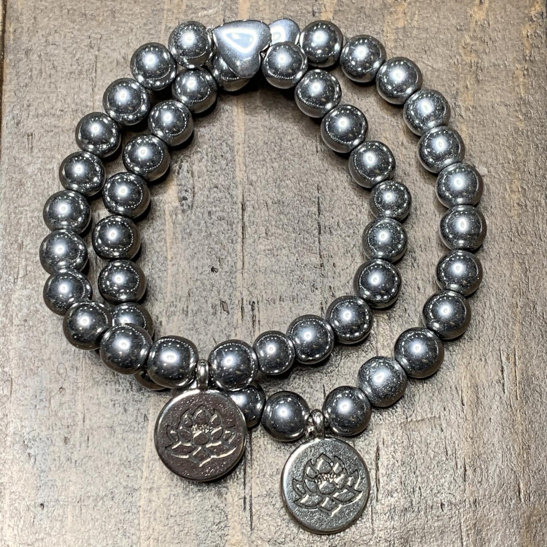 Hematite Protection Bracelet-Lotus