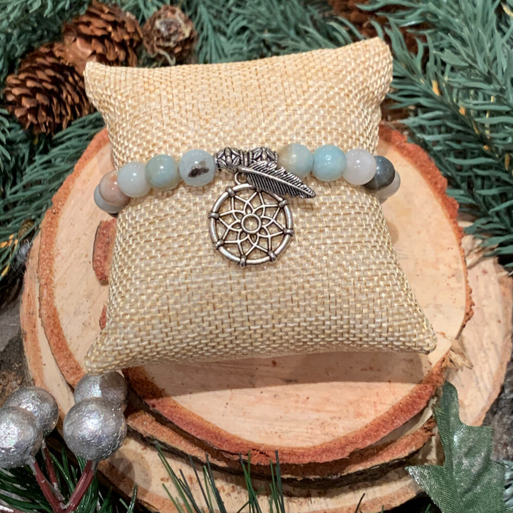 Amazonite Dream Catcher Bracelet