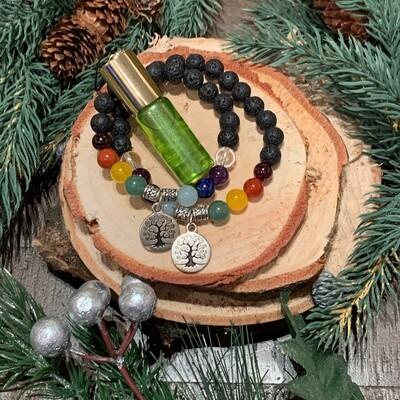 Chakra Balancing Bracelets & Elixir Gift Set: Tree of Life
