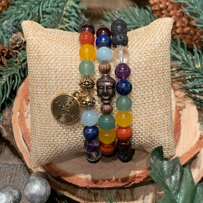 Chakra Balancing Bracelet Stack