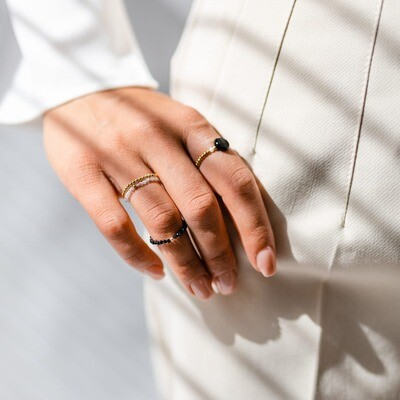 925 sterling silver or gold plated ring