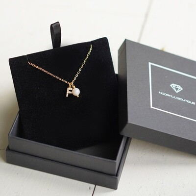 Gold plated chain with your letter and pearl