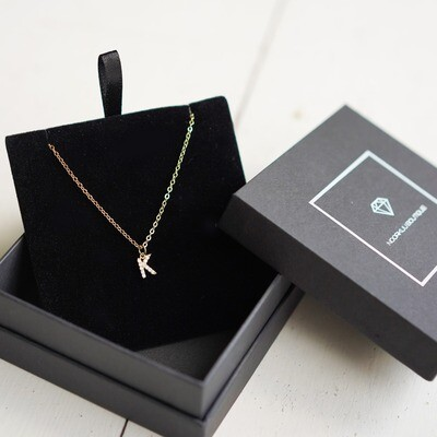 Gold plated chain with your letter