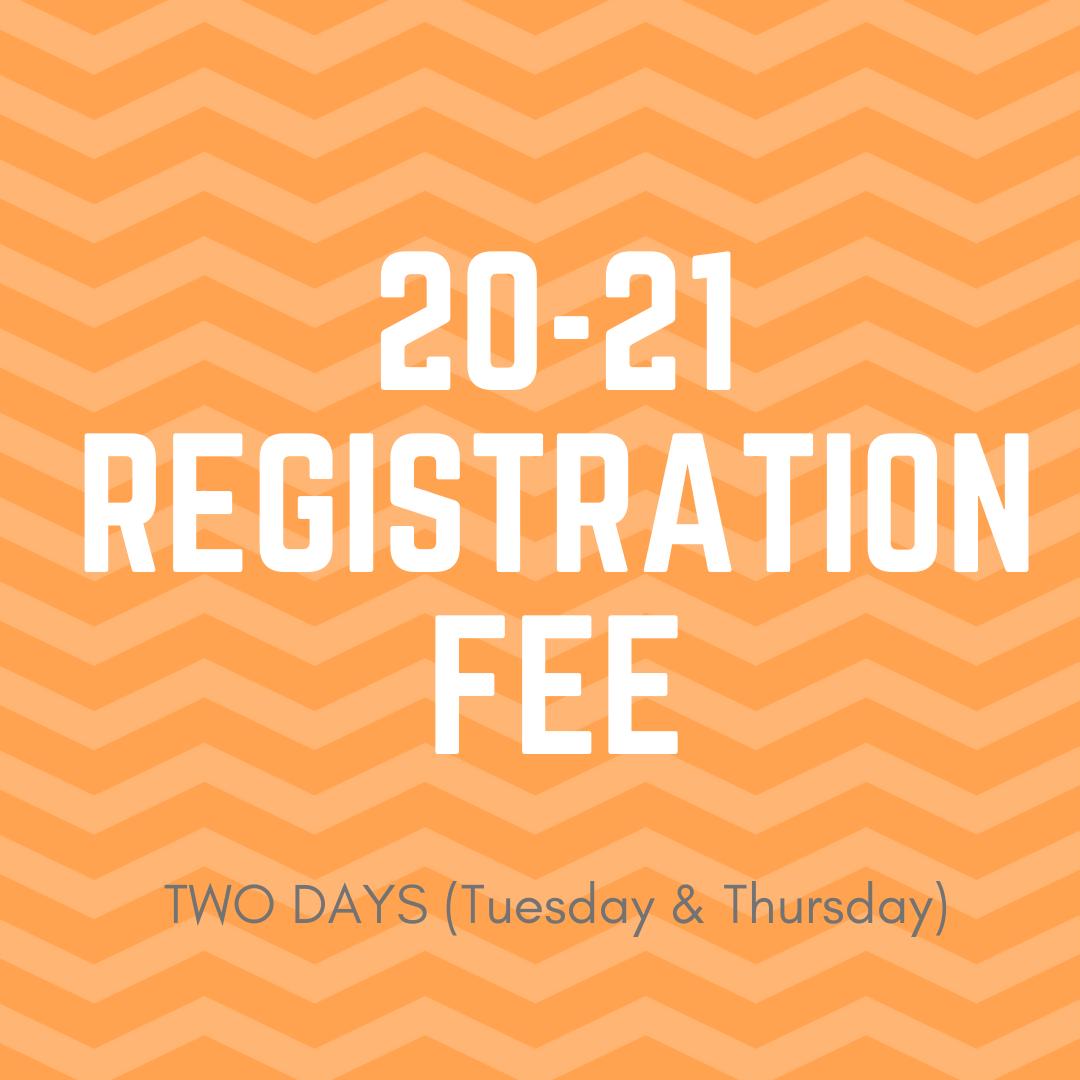 20-21 2-day Registration Fee