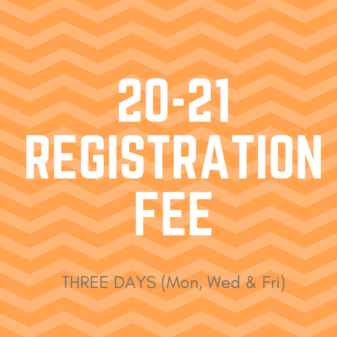 20-21 3-day Registration Fee