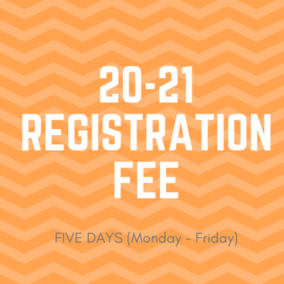 20-21 5-day Registration Fee