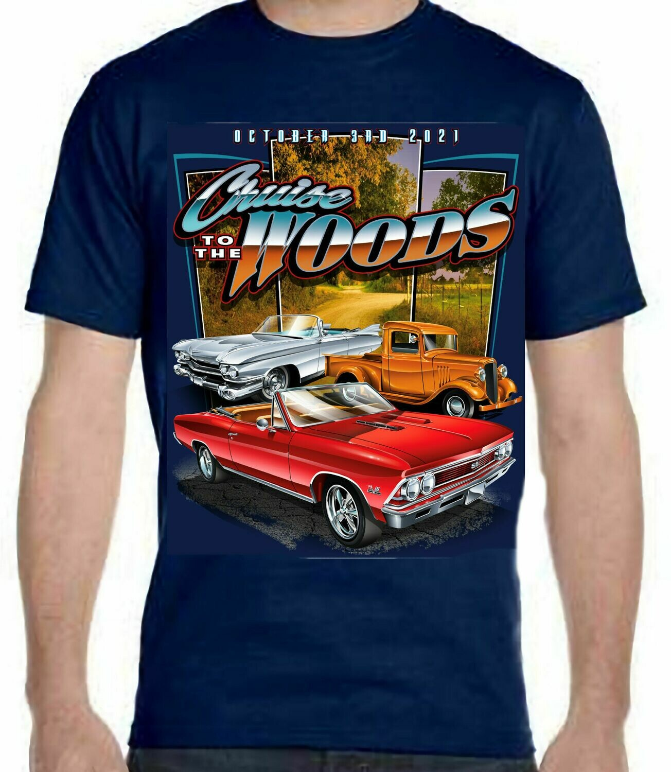 Cruise to the Woods T-shirts (available for shipping Apx. June 1)