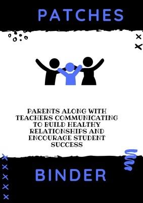 P.A.T.C.H.E.S Parent Binder Download Blue