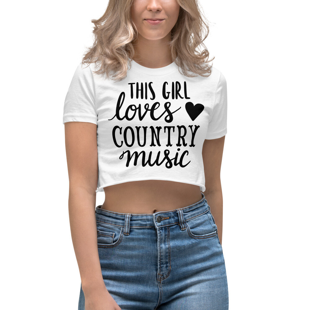 This Girl Loves Country Music Women's Crop Top