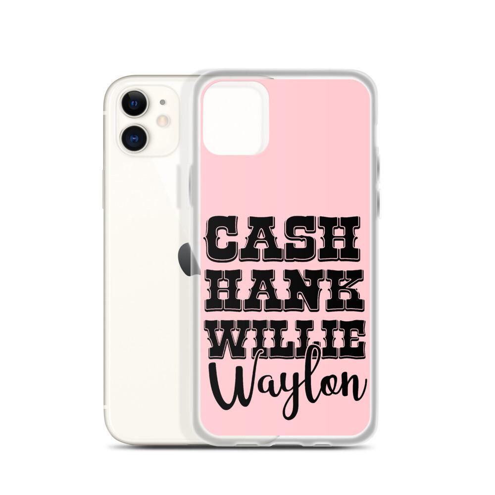Cash Hank Willie Waylon iPhone Case