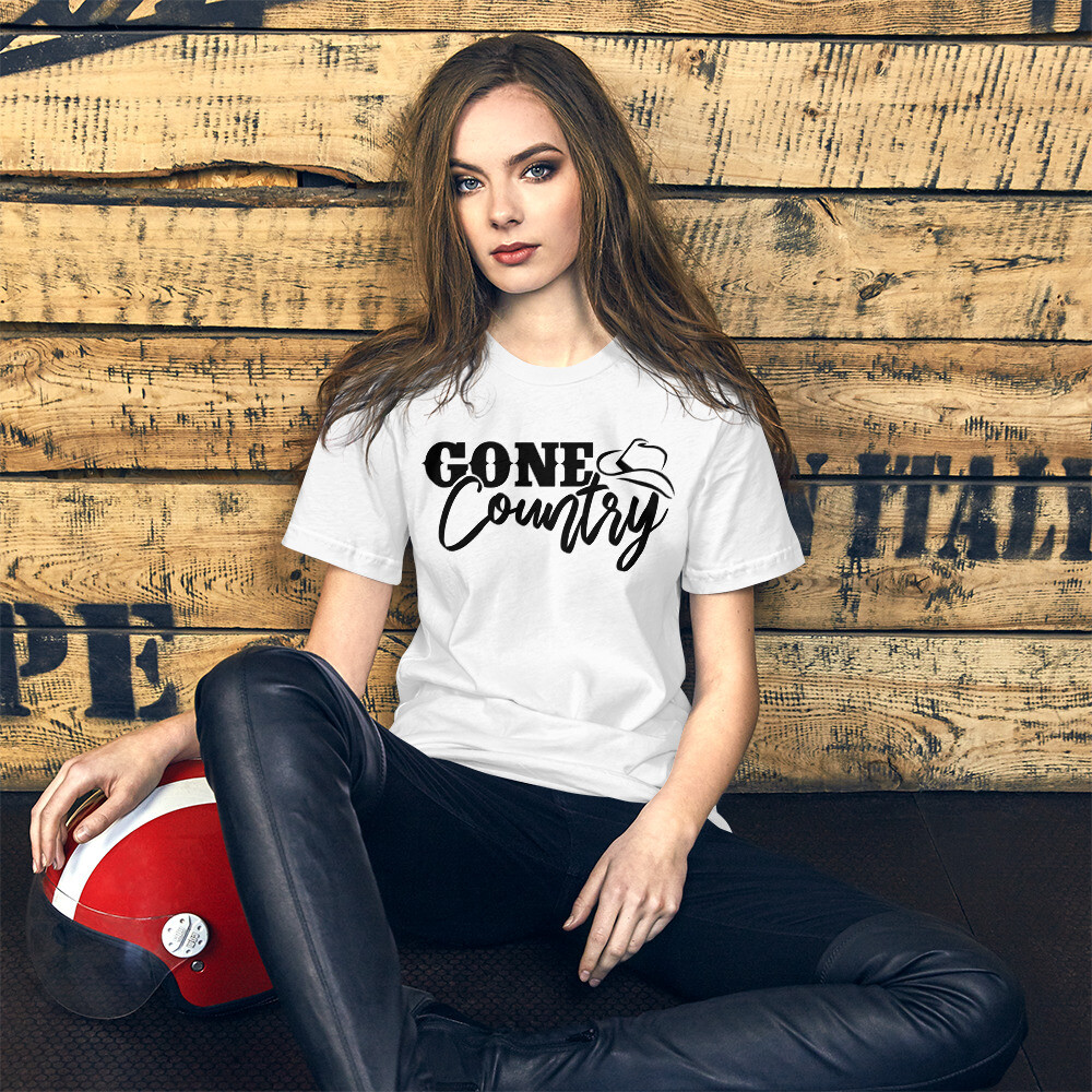 Gone Country Short-Sleeve Unisex T-Shirt/ Bella + Canvas 3001