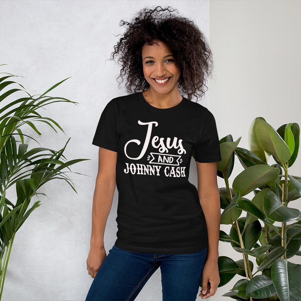 Jesus And Johnny Cash Short-Sleeve Unisex T-Shirt/ Bella + Canvas 3001