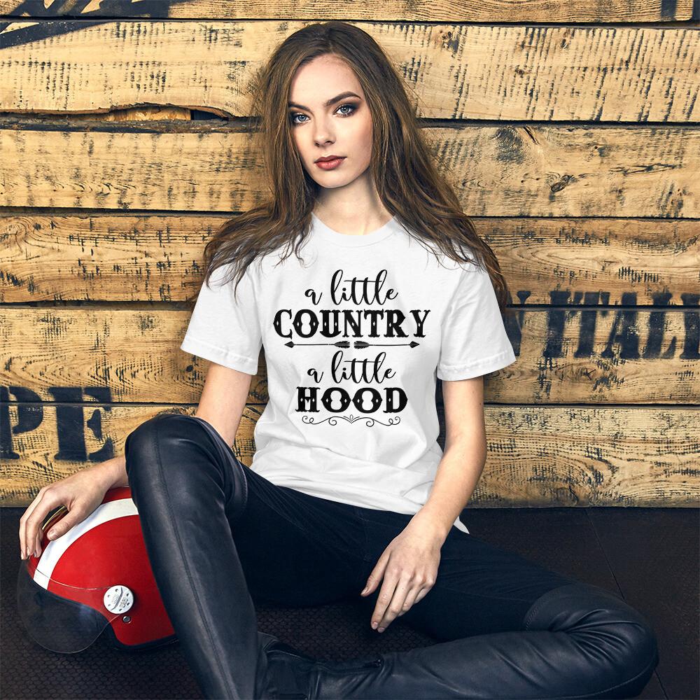 A Little Country A Little Hood Short-Sleeve Unisex T-Shirt/ Bella + Canvas 3001