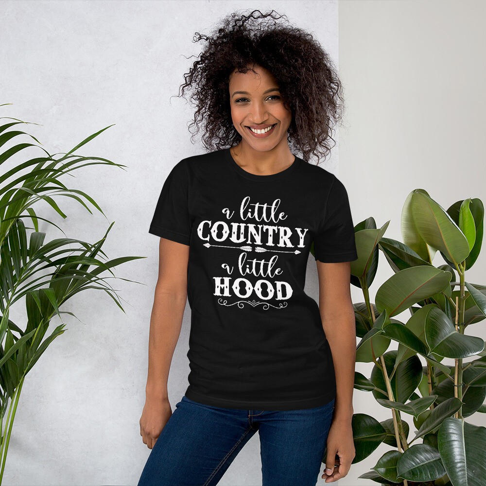 A Little Country A Little Hood Short-Sleeve Unisex T-Shirt/ Bella + Canvas 3001
