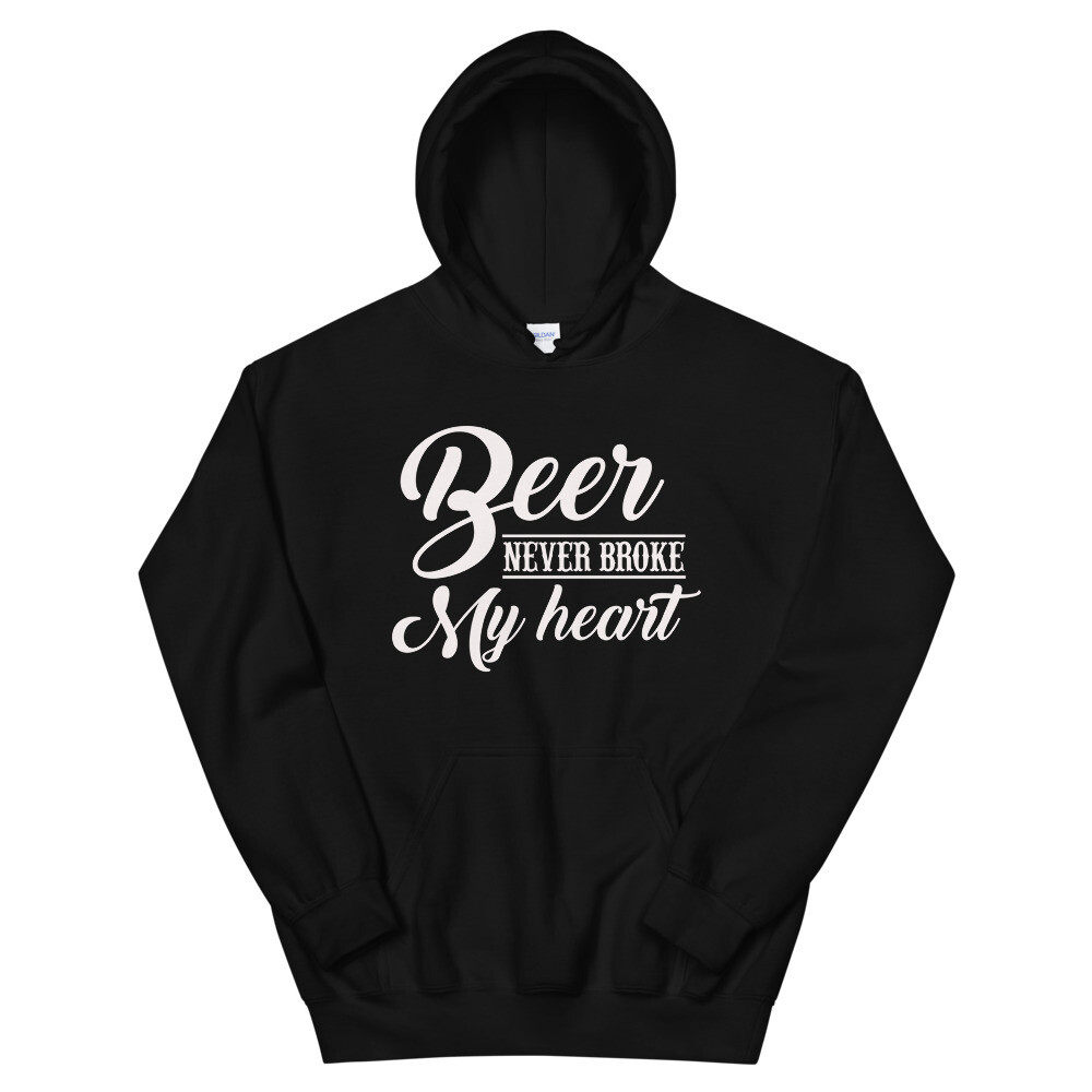 Beer Never Broke My Heart Unisex Hoodie/ Gildan 18500