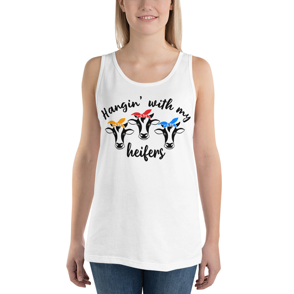 Hangin' With My Heifers Unisex Tank Top/ Bella + Canvas 3480
