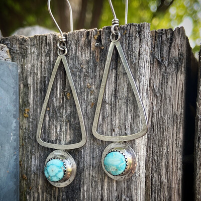 White Water Turquoise Earrings