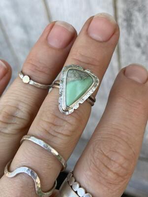 Variscite Triangle Ring