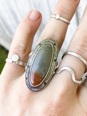 Polychrome Jasper Ring
