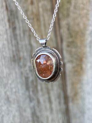 Rose Cut Sunstone Necklace
