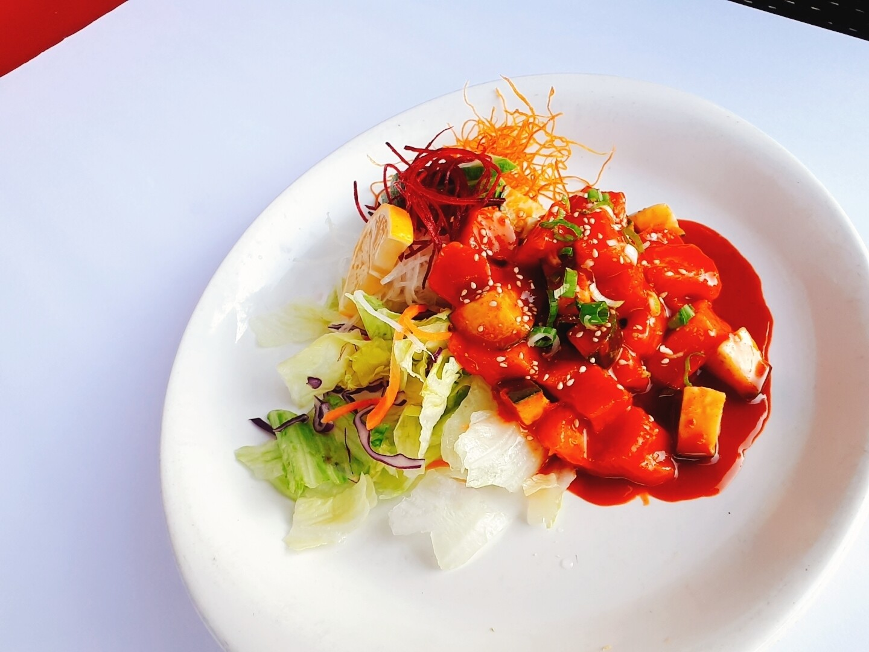 Spicy tuna/salmon Sashimi