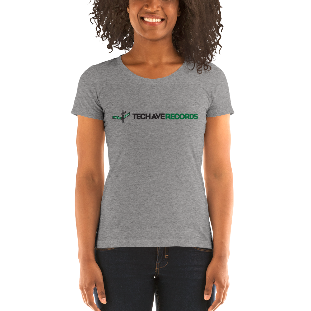 Ladies' short sleeve t-shirt - TAR Black and Green Logo