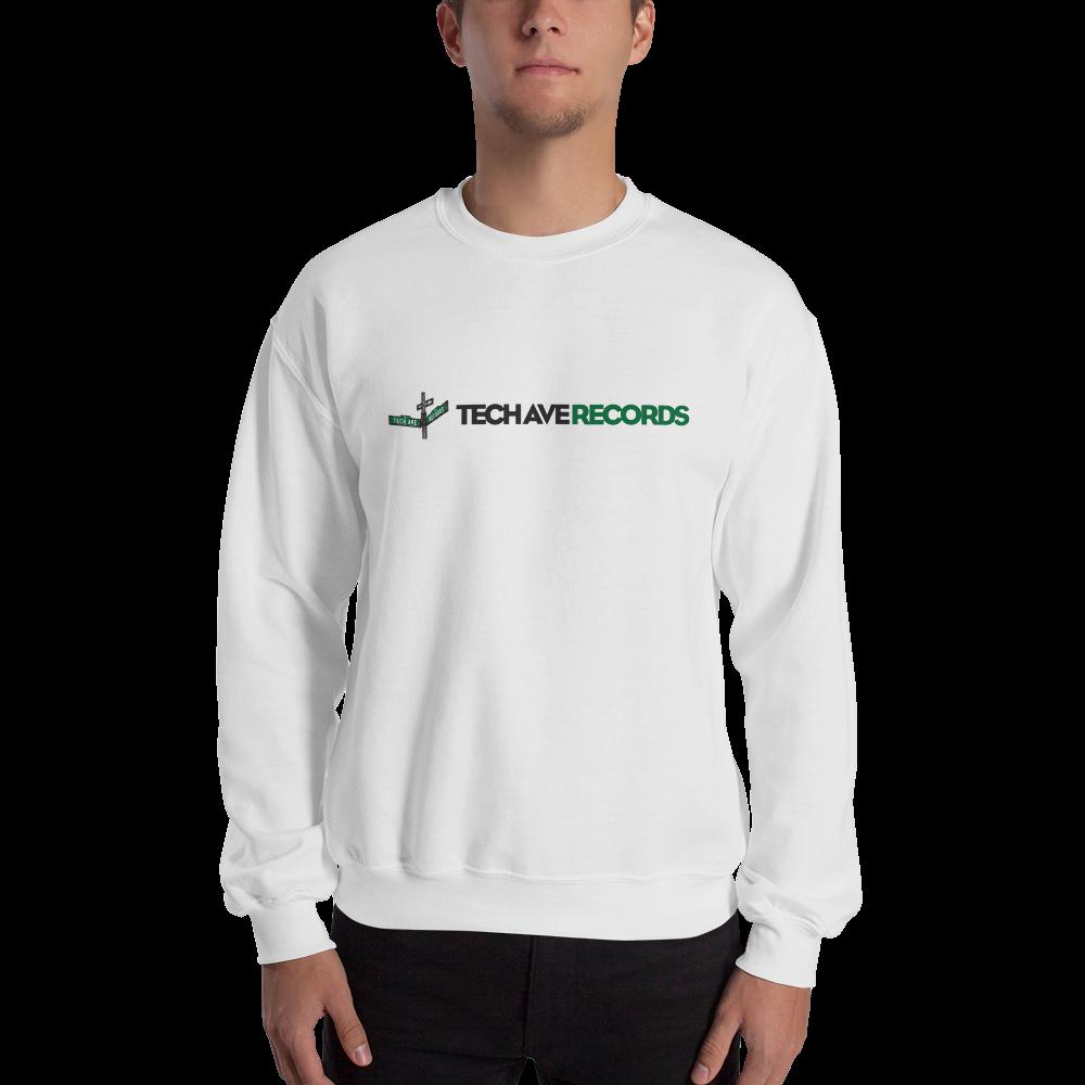 Unisex Crew Sweatshirt - TAR Black and Green Logo