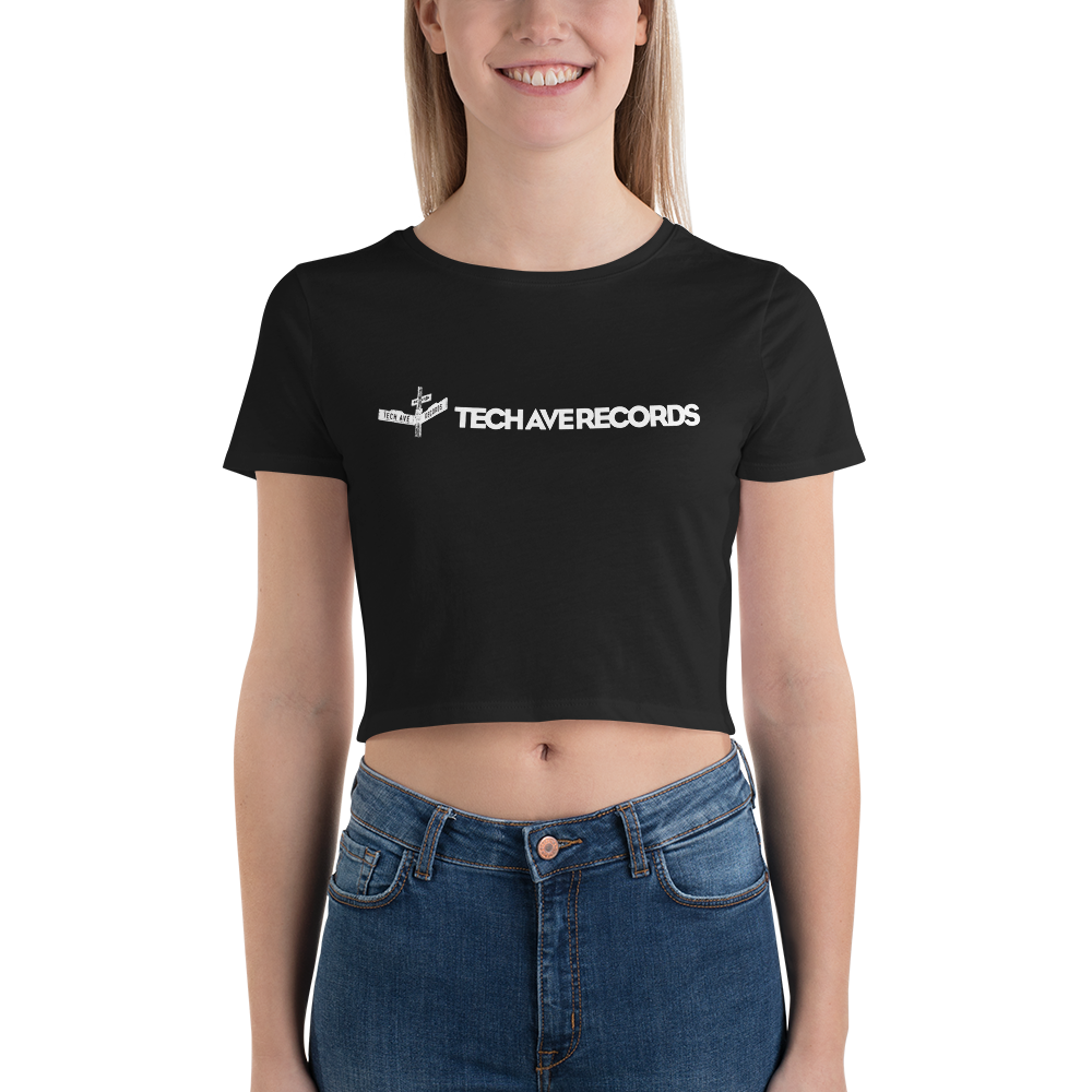 Women's Crop Tee - TAR White Logo