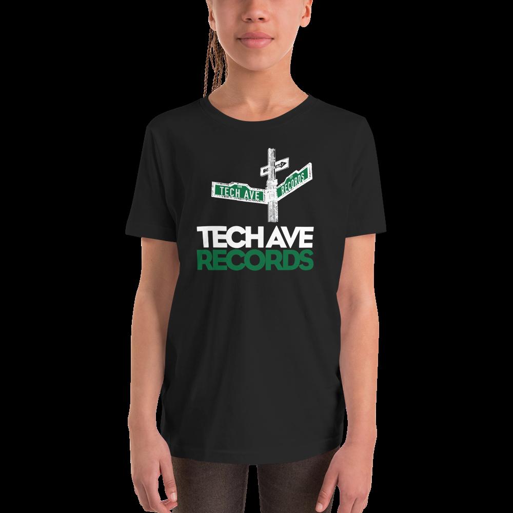 Youth Short Sleeve T-Shirt - TAR White and Green Logo