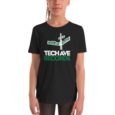 Youth Short Sleeve T-Shirt - TAR White and Green Logo